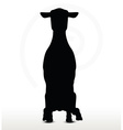 sheep silhouette with sitting pose vector image vector image