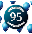 Silver number ninety five years anniversary vector image vector image