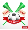 Sporting Poster with Soccer Ball vector image vector image