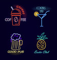 street coffee and cocktail bar vector image