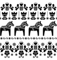 Swedish dala horse pattern scandinavian design