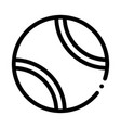 tennis play ball icon outline vector image vector image