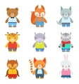 Toy Kids Animals In Clothes vector image vector image
