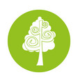 tree plant drawing icon vector image