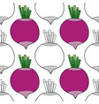 vegetables beets black and white vector image