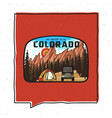 vintage adventure colorado badge vector image vector image