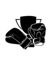 vintage boxing gloves on white vector image