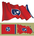 waving flag of the state of tennessee vector image vector image