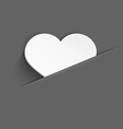 White heart in pocket vector image vector image