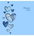 Winter frozen glass heart design Love card vector image vector image