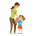 woman and child volunteer and orphan kid vector image