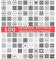 100 Universal different seamless patterns vector image