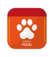 dog food icon vector image