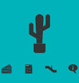 cactus icon flat vector image
