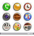 round button icons-set 2 vector image