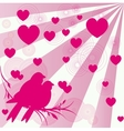 Card of romantic love birds vector image