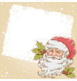 Christmas postcard with cute smiling Santa Claus vector image