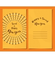 greeting card set for Jewish new year Rosh vector image