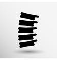Spine diagnostics symbol design spine icon vector image