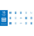 15 calculate icons vector image vector image
