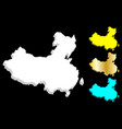 3d map of china vector image