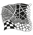 Abstract monochrome zentangle ornament vector image