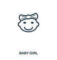 baby girl icon mobile apps printing and more vector image