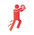 basketball game sportsman training recreation vector image vector image