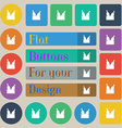 Beer bottle icon sign Set of twenty colored flat vector image