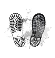 black trail foot vector image vector image