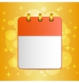 Blank sheet of calendar on festive colorful vector image vector image