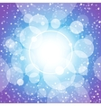 Blue shining circles and stars vector image vector image