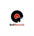 bull records logo unique vector image