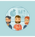 Business people applauding at presentation vector image vector image