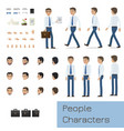 businessman character generator flat vector image vector image