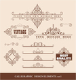 Caligraphic design elements vector | Price: 1 Credit (USD $1)