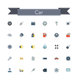 Car Flat Icons vector image vector image