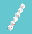 career ladder cubes vector image vector image