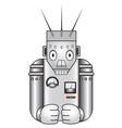 cartoon retro robot vector image vector image