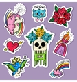 Cartoon Tattoo Stickers Set vector image