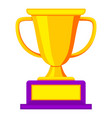colorful golden winner cup icon vector image