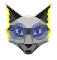 cool cat creative in polygonal vector image vector image