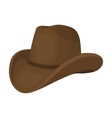 Cowboy hat icon in cartoon style isolated on white vector image vector image