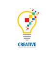 creative idea - logo template concept vector image