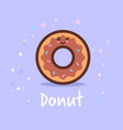 cute donut cartoon comic character with smiling vector image vector image