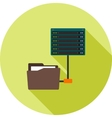 Data Access from Folders vector image vector image