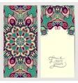 decorative label card for vintage design ethnic vector image