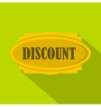 Discount label icon flat style vector image vector image