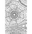 doodle mandala pattern - coloring page for adults vector image vector image