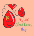 doodle of world blood donor day collection vector image vector image
